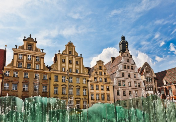 Wrocław (German: Breslau) is the chief city of the historical region of Lower Silesia in south-western Poland, situated on the river Oder